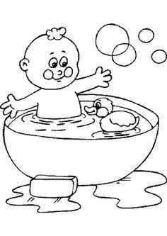 Robin prend une douche plut t qu 39 un bain coloriages - Laver un bebe dans une douche ...
