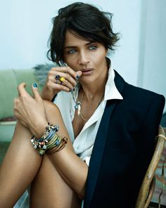 Helena Christensen with Ole Lynggaard design