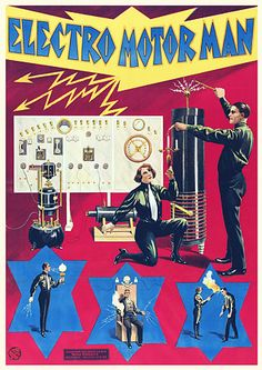 Electro Motor Man Sideshow Attraction ( Circus / Carnival / Early Electricity / Science )