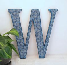 Letter W - Wood Letter - Wooden Letter for Wall - Wall Letter - Gallery Wall - Wall Decor - Wooden Initial Wall Letters - Decorative Letter