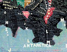 Paula Scher, been a big fan for ages, finally pinning her work Paula Scher Maps, Colossal Art, Up Book, Antarctica, Cartography, Map Art, Pegasus, Hand Lettering, Artsy