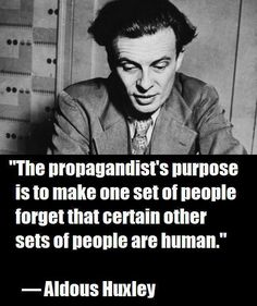 Aldous Huxley >> The UK government have turned the working-class against working-class, through statements and the media they have portrayed the unemployed, the disabled and those in rented accommodation - often low paid workers - with such negativity, that we are no longer seen as individuals in need, but as a group who deserve no respect. Still, it distracts attention from issues they (working class people) might want to group together and rise up against.