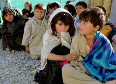 very handsome cute and beautiful Afghani girls and boys. poor children of…