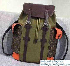 Louis Vuitton Epi Leather Supreme Christopher PM Backpack M58843 Khaki Marron