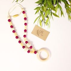 A personal favorite from my Etsy shop https://www.etsy.com/listing/477897730/silicone-and-wood-teething-necklace