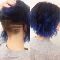 (blue hair don't care @mistymeyers #bluehair #bob...)