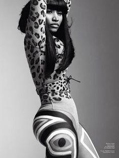 Nicki Minaj In Vintage Alaia Leopard From Resurrection Vintage in V Magazine #vmag #alaia #leopard