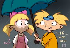 arnold and helga Arnold And Helga, Football Heads, Newest Tv Shows, Couple Cartoon, Theme Song, My Children, Childhood, Drawings, Ideas Para