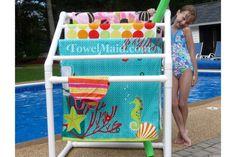 DIY Kits For Poolside Towel Drying Racks~ Charterhouseinteriors.com