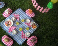 Miniature Teddy Bears Picnic Doll House Teddy Bear Picnic Food Fairy Garden