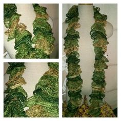 Crocheted Frilly scarf #179 in Portland, OR (sells for $15)