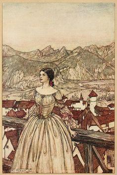 "Arthur Rackham ""Undine"" (1909) - Bertalda"