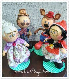 Se tem algo que eu amo fazer são as bonecas em EVA.   Essa turminha seguiu para minha querida Bahia!     Evas Kreateva   Colas Tekbon...