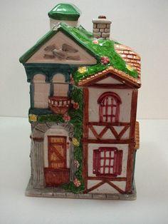 Post Office Vintage Cookie Jar Building Cookie