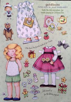 Mary Engelbreit Mag Paper Doll Goldilocks Dec Jan 2009 Uncut | eBay