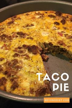 Taco Pie is an excellent gluten-free recipe that's perfect for Taco Tuesday (or any night of the week)!