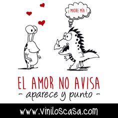 El #amor no avisa aparece y punto --> www.viniloscasa.com