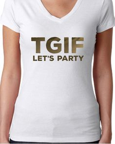 Friyay t-shirt Friday t-shirt Gold foil t-shirt Funny by KaryBellA