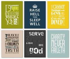 Scripture signs