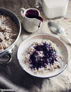 Gluten Free Recipes, Free Food, Acai Bowl, Oatmeal, Tasty, Baking, Breakfast, Desserts, Cook