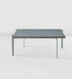 Poul Kjaerholm 'PK 61' coffee table, designed in 1956. Made out of chrome plated steel and marble.