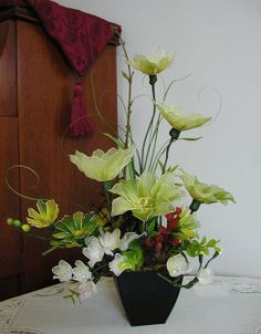 Handmade Nylon Flower Arrangement by LiYunFlora on Etsy, $30.00