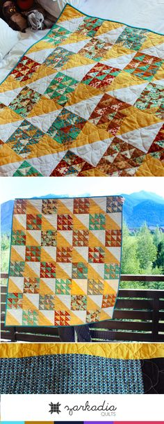 Yellow baby quilt using only half square triangles, yellow nursery, warm nursery Yellow Nursery, Baby Yellow, Female Pleasure, Half Square Triangle Quilts, Quilted Gifts, Newborn Baby Gifts, Easy Quilts, Happy Kids, Gender Neutral