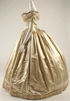 Wedding dress, 1856-59 | In the Swan's Shadow