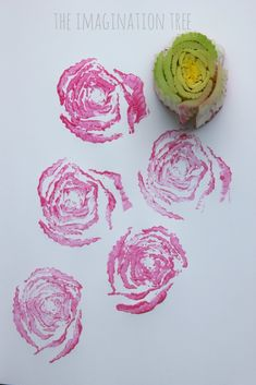 rose prints with celery hearts