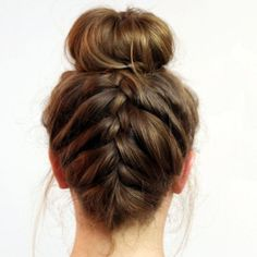 Easy Updos Upside Down French Braid Bun