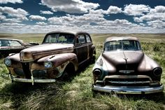 """Gone Savage"", abandoned cars in Saskatchewan. Photo by David."