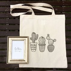 CactusPrint Canvas Totebag