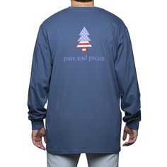 Long Sleeve Patriotic Pine in Navy | pine and pecan Pre-Order now through 11/08/15