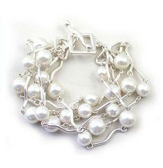 Fashion jewelry elegant pearl multilayer