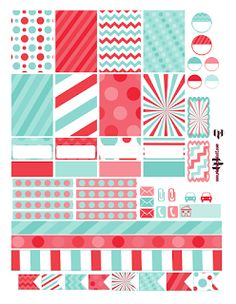 free winter christmas peppermint planner sticker printable