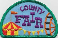 girl boy cub COUNTY FAIR 4H Visit Fun Patches Crests Badges SCOUT/GUIDES Iron On