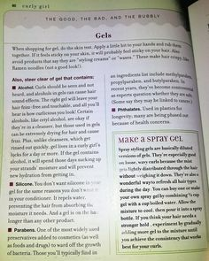 Choosing and using gels for your curls (From the Curly Girl handbook, by Lorraine Massey)