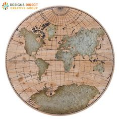 World map gesso wood wall decor apartment pinterest wood walls mirrors wall decor home decor frames round world map gumiabroncs Images