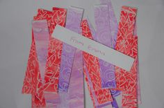 Valentine Book mark..Just white crayon, water paint and good water color paper.