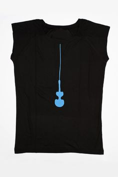 T-shirt  Slim fitting ladies T-shirt features a light blue Cycladic violin-shaped figurine.
