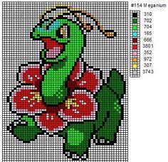 Crochet Fanatic: Pokemon 152-164: Chikorita, Bayleef, Meganium, Cyndaquil…