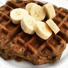 Paleo Banana Bread Waffles made with Otto's Naturals Cassava Flour. Ingredients: 1 banana, 1 egg, 1 C Otto's Naturals Cassava Flour, 2 tsp baking powder, 1/2 tsp vinegar, 1/2 tsp Red Ape Cinnamon, 1/2 t vanilla 1 C milk, 2 T OMGhee, and handful each Enjoy Life Foods chocolate chips, unsweetened coconut, chopped pecans. Click link for directions. Recipe from CleanFamilyLife on Instagram.