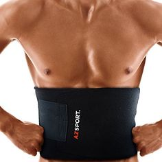 254e6e2482 AZSPORT Waist Trimmer Adjustable Ab Sauna Belt to help you shed the excess  Water weight and