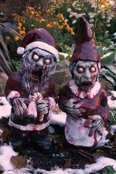 Twas the Night before Christmas And all life was gone Not A trace of the living left Not even on the lawn. RevenantFX proudly presents Santa Corpse Zombie Gnome in all his undead glory. Cast in Tuff Stone, he stands tall and weighs Zombie Christmas, Dark Christmas, Merry Christmas, The Night Before Christmas, Nightmare Before Christmas, Christmas Makeup, Halloween Diy, Happy Halloween, Halloween Decorations