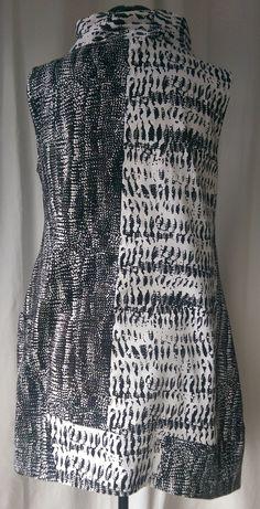 V9112 Marcy Tilton Cirque dress back. I like the way the fabric sits here.