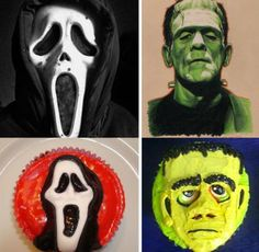 Cupcake Decorating Ideas! Scary Halloween, Halloween Face Makeup, Cupcake Photos, Halloween Cupcakes, Some Ideas, Decorating Ideas, Art, Art Background, Kunst