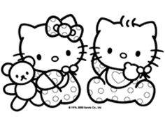 hello kitty coloring pages to print - | printables | pinterest ... - Kitty Printable Color Pages