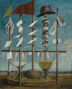 PIERRE ROY (1880-1950) Sans titre 19 7/8 x 15 7/8 in (50.6 x 40.3 cm) (Painted circa 1940)