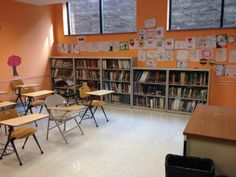 The 800-volume JGSI genealogy library on April 6, 2014, completed its move into a classroom at Temple Beth-El, Northbrook, Ill.