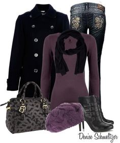 Winter clothes deep colors
